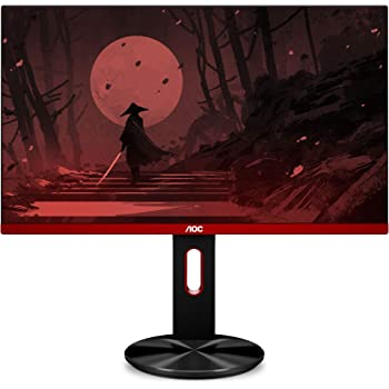 "AOC G2590PX 25"" Frameless Gaming Monitor, FHD, 1ms, 144Hz, NVIDIA G-SYNC Compatible, 96% sRGB, Low Input Lag, DP/HDMI/VGA, Height Adjust, VESA"