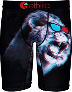 Ethika Mens Staple Fit Boxer Brief King of 3D UMS289 Red/Blue