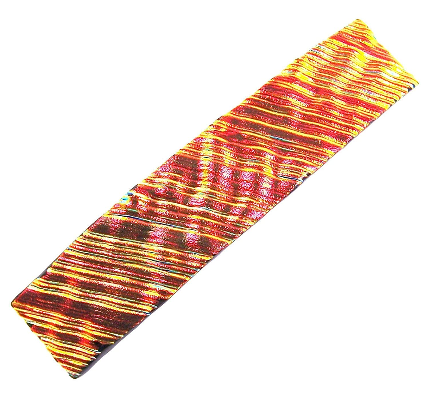 Our shop OFFers the best service Dichroic Glass Hair Barrette Max 86% OFF - 90mm Orange Copper Large 3.5