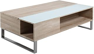 Amazon Brand - Movian Inn - Mesa de centro 60 x 110 x 35 cm (largo x ancho x alto) efecto roble