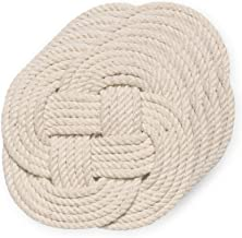 Now Designs Crocheted Nautical Rope Coaster, Set of Four