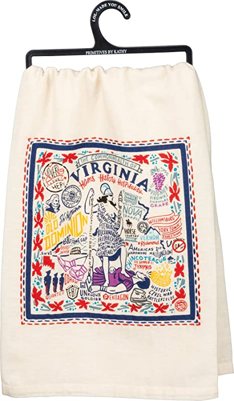 Virginia State Kitchen Towel Primitives By Kathy
