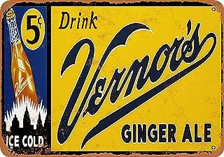 YASMINE HANCOCK - Cartel de lata de Ginger Ale de Verno para pared, arte de café, club, hogar, sala de estar, decoración retro