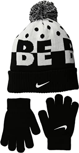 Nike Kids Attitude Knit Beanie & Gloves Set (Little Kids/Big Kids)