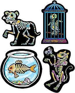 Day Of The Dead Pet Cutouts   (4/Pkg)