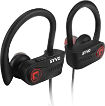 Syvo Blaze Wireless Bluetooth 5.0 Earphones with Microphone IPX7 Waterproof Sports Design with Carry Case, HD Sound, Super Bass (Black)