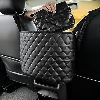 Car Handbag Holder Car Purse Holder Between Seats PU Leather Car Pocket Handbag Holder Front Seat Storage Pet Kid Barrier ...
