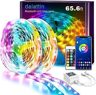 Led Lights for Bedroom Smart 65.6ft Dalattin 2 Rolls of 32.8ft Smart Led Strip Lights Sync to Music Color Changing Lights ...
