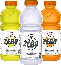 Gatorade Zero Sugar Thirst Quencher, 3 flavor Variety Pack, 20 Fl Oz (Pack of 12)