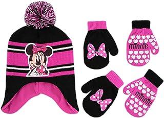 کلاه موزیکی Disney Minnie Mouse and 2 Pair Mittens Cather Weather، Girls Toddler، 2-4