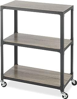 Whitmor 3-Tier Metal & Wood Cart-Gunmetal