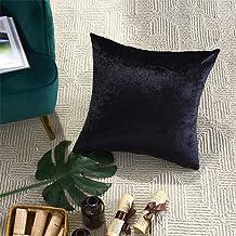 GIGIZAZA Decorative Throw Pillow Covers 22x22,Black Square Couch Pillow Covers,Velvet Sofa Boho Cushion Pillows