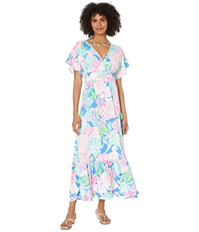 Lilly Pulitzer Jessi Midi Dress (Multi Peony For Your Thoughts) Women