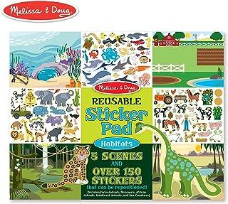 Melissa & Doug Habitats Reusable Sticker Pad (Extra Large Sticker Activity Pad, Removable Backgrounds, 150 Stickers)