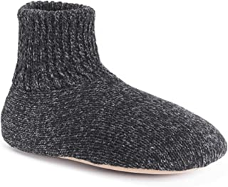 MUK LUKS Men's Morty Slippers, Black