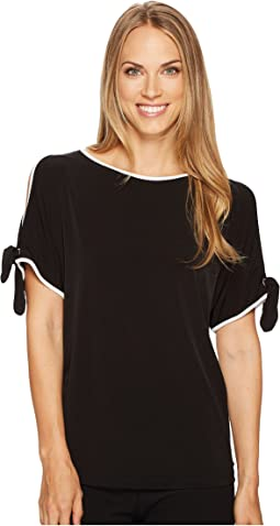 Ivanka Trump - Matte Jersey Cold Shoulder Shirt