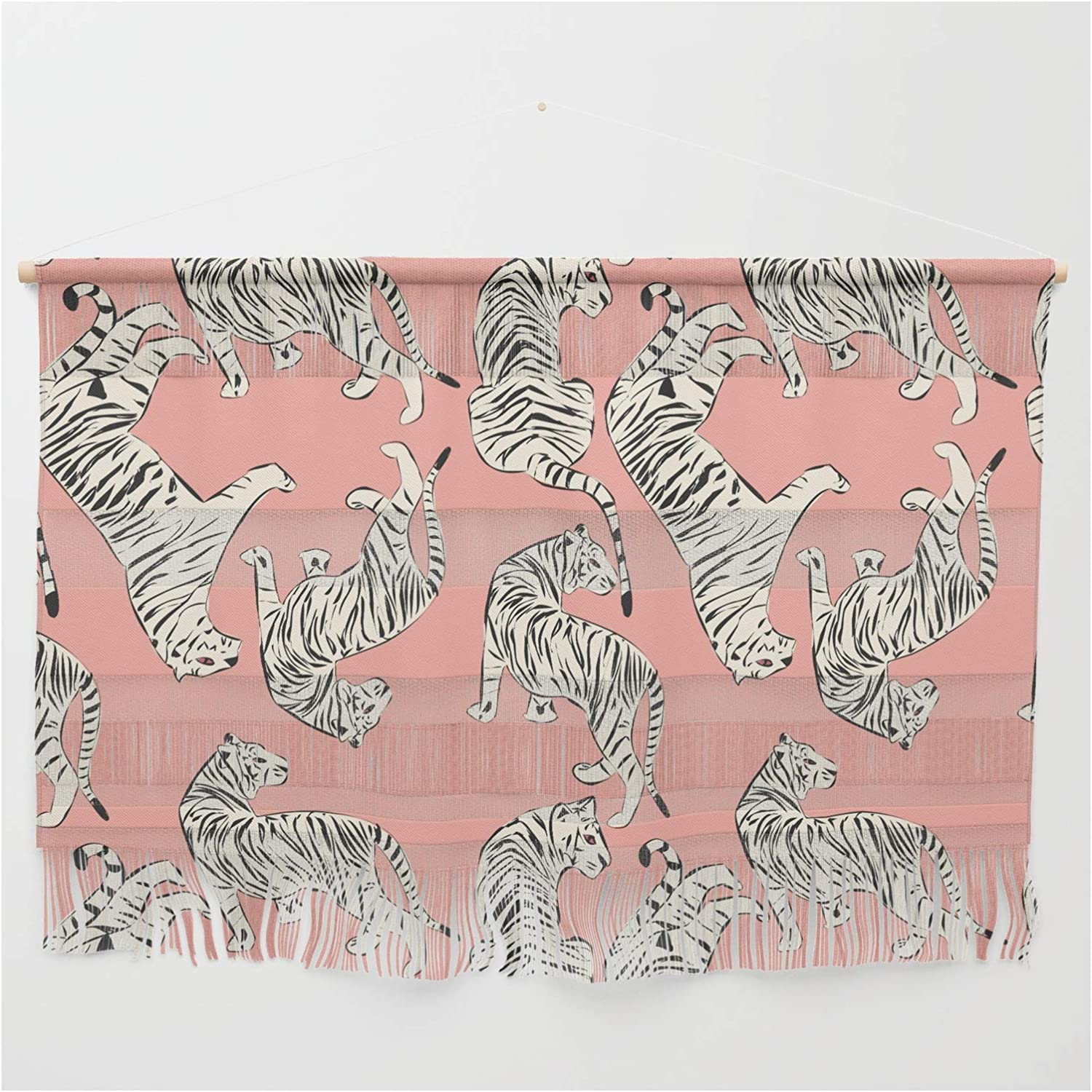 Society6 Pink Tiger Pattern 006 Sale price by on Bluelela - Wall La Fort Worth Mall Hanging