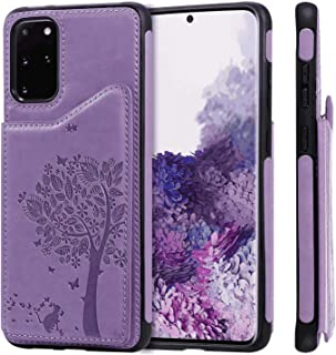 PU Leather Flip Cover Compatible with Samsung Galaxy S10 5G, Elegant blue Wallet Case for Samsung Galaxy S10 5G