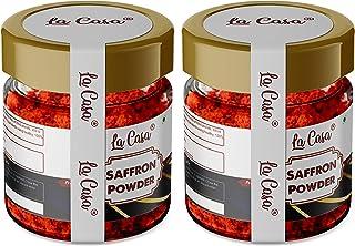 La Casa Saffron Powder   Combo Pack of 2   Original Kashmiri Kesar Powder   Premium Organic A++ Grade   for Face/Beauty/Fo...
