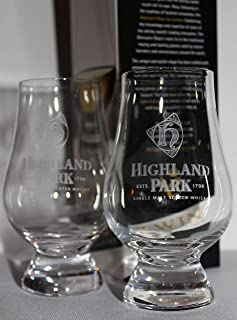 HIGHLAND PARK TWIN PACK GLENCAIRN SCOTCH MALT WHISKY TASTING GLASSES