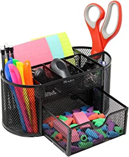 Anup Torda Metal Mesh 9 Compartment Desk Organizer Stand for Use to Keep Thier Essential Basic Stationery