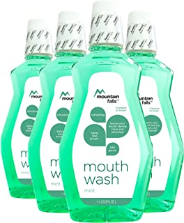Mountain Falls Mouthwash, Mint, 33.79 Fluid Ounce (Pack of 4)