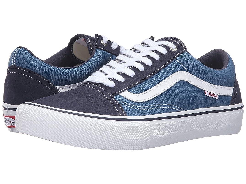 動的小さいレイプ(バンズ) VANS メンズスニーカー?靴 Old Skool Pro Navy/Stv Navy/White 7.5 (25.5cm(レディース26cm)) D - Medium