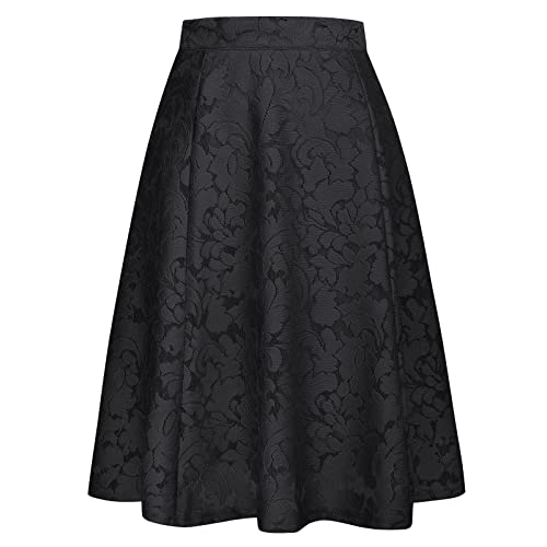 be35c41ee0 GRACE KARIN 50s Retro Vintage Skirt A-Line High Waisted Flared Skirt