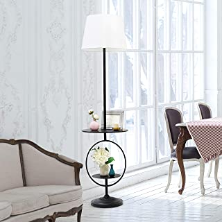 Elegant Designs LF1023-BLK End Table Decorative Floor Lamp, Black