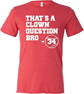 Adult That's A Clown Question Bro Triblend T-Shirt