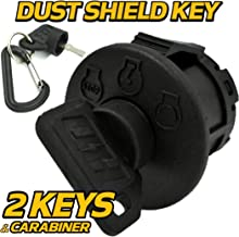 Huskee Ignition Switch LT4200 - OEM Upgrade w/ 2 Premium Soft-Grip Keys & Free Keychain - 3 Position Switch - Off/On/Start