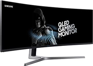 "Samsung Monitor Gaming 49"" Super UltraWide QLED, Resolución 3840 x 1080, 144 Hz (Modelo LC49HG90DMLXZX)"