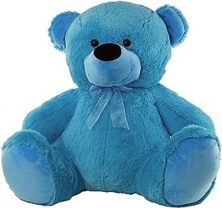 Jelly Teddy Bear Soft Plush Toy, Medium Blue, 60 Centimeters