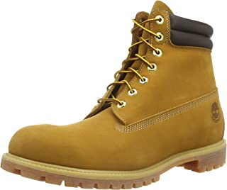 TIMBERLAND 6 In Double Collar Boot, Men's Boots, Yellow (Wheat)