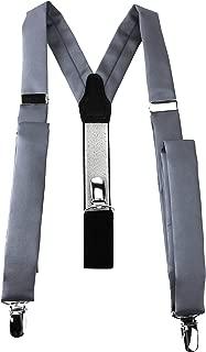 Retro Hosenträger sehr stark 2.5cm Breit Y-Form Doppel Clip Neu Hosen Träger