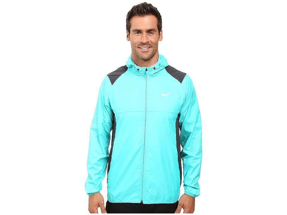 Nike Golf Printed Packable Hooded Jacket (Hyper Jade/Reflective Silver) Men