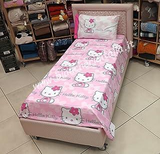 Hello Kitty Imprimé Avec Paillettes Complet De Couette Flowers Rose 1 Place  Gabel Sanrio (Sac