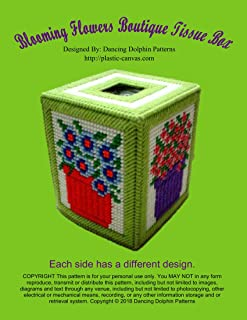 Blooming Flowers Boutique Tissue Box: Plastic Canvas Pattern
