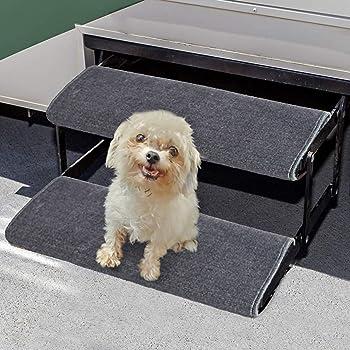 Aucuda RV Step Covers Wrap Around Camper RV Step Rug Step Carpet, Set of 2, Gray, 23 Inch Width