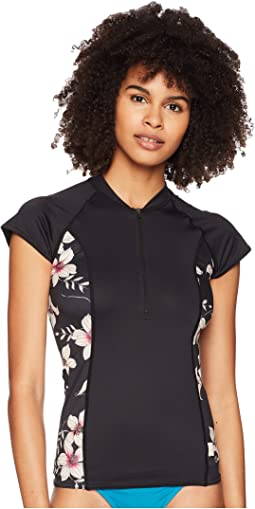 O'Neill Cap Sleeve Sun Shirt Front Zip