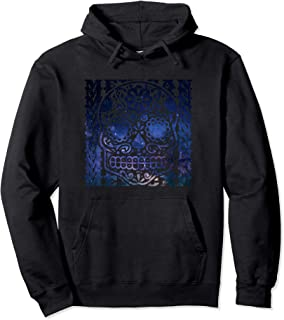 MEXICO MEXICAN SPACE DEAD HEAD SKULL FESTIVAL PARTY Pullover Hoodie