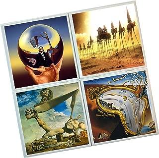 Salvador Dali Artwork Coasters : Set of 4 Tile Coasters