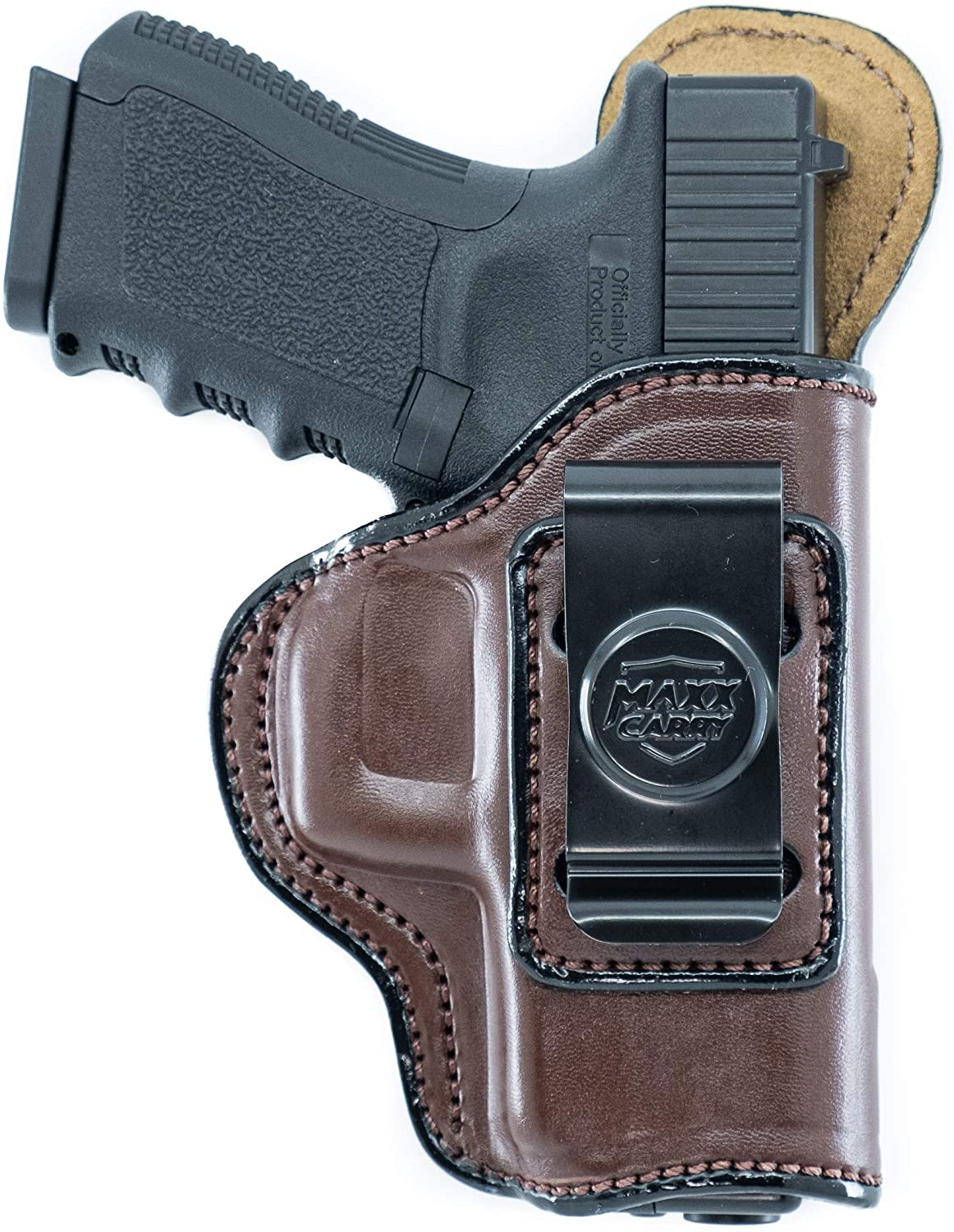 Maxx Carry IWB Springfield XDS 9mm Leather Holster 4 inch 9 mm, XDE 3.3 inch