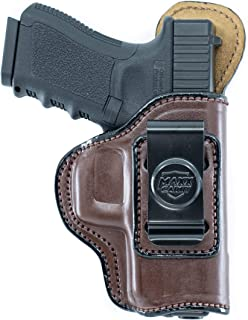 Maxx Carry Inside The Waistband Leather Holster for H&K HK45. IWB Holster with Clip Conceal Carry.