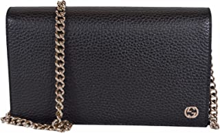 Gucci Women's Leather Interlocking GG Crossbody Wallet