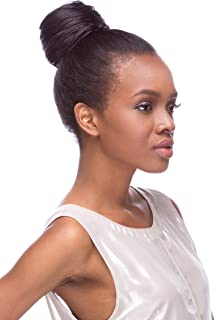 Draw String Swirl Hair Piece Color 4 Dark Brown - Sepia Wigs Swirly Synthetic African American Bun Updo Formal Length Womens Coil Trenza Peluca