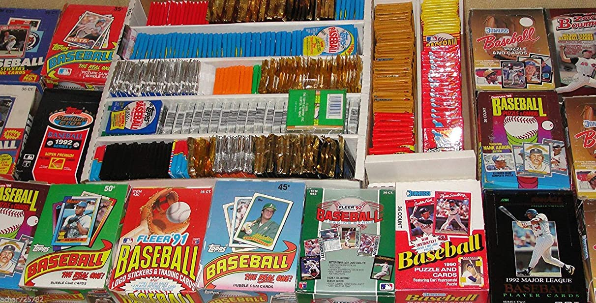600 OLD VINTAGE BASEBALL CARDS IN SEALED WAX PACKS WAREHOUSE FIND! TOPPS FLEER DONRUSS UPPER DECK SCORE AND MORE!!!