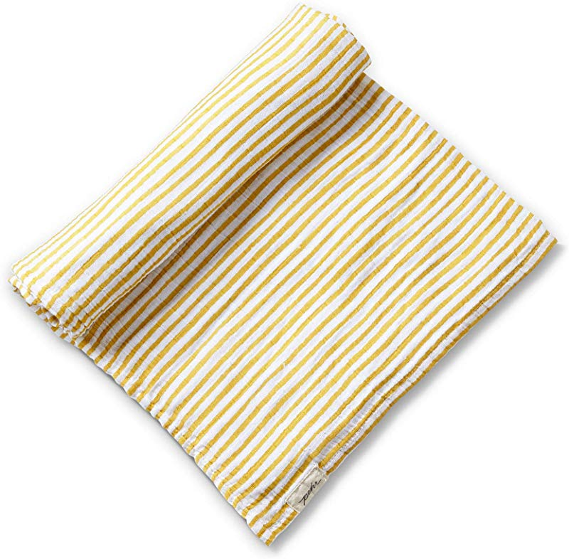 Pehr Stripes Away Swaddle Marigold Multi