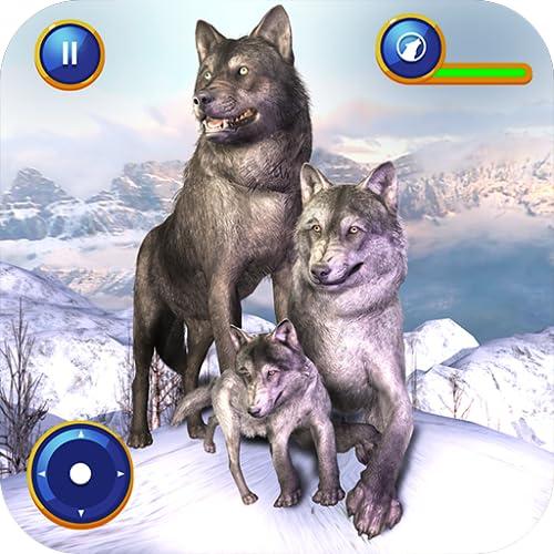 Virtuelle Wolf Familie Sim Wildlife Spiel