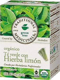 Traditional Medicinals Té Verde Orgánico con Hierba Limón, 16 Bolsitas De Té
